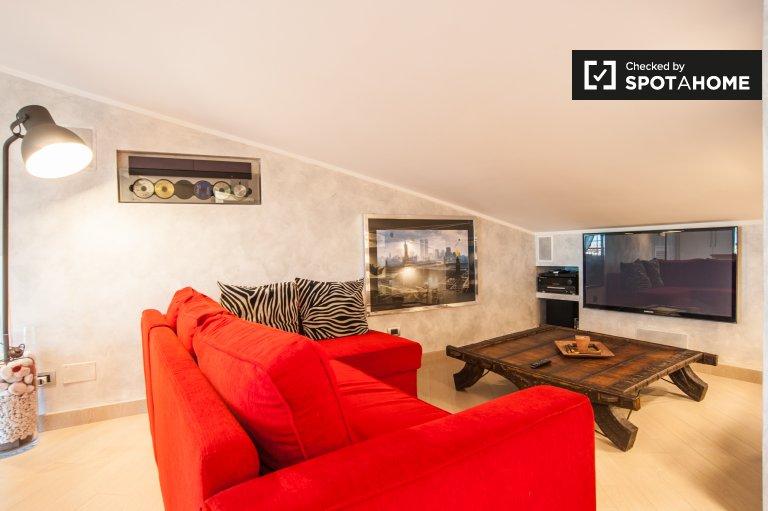 Bel appartement 1 chambre à louer à Magliana, Rome