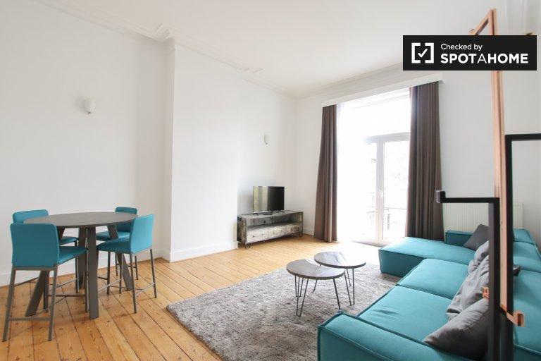Moderno appartamento in affitto a Ixelles, Bruxelles, 1 camera da letto