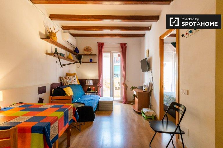 Elegante apartamento de 2 dormitorios en alquiler en Poble-sec, Barcelona