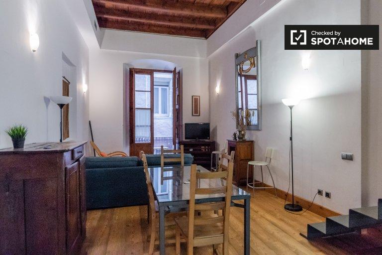 Große 1-Zimmer-Wohnung zur Miete in Barri Gòtic, Barcelona
