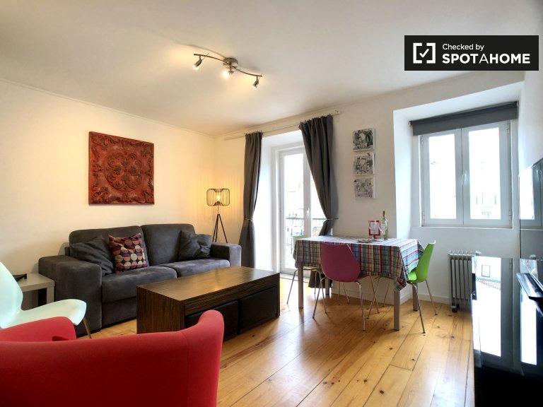 Gemütliche 1-Zimmer-Wohnung zur Miete in Arroios, Lissabon