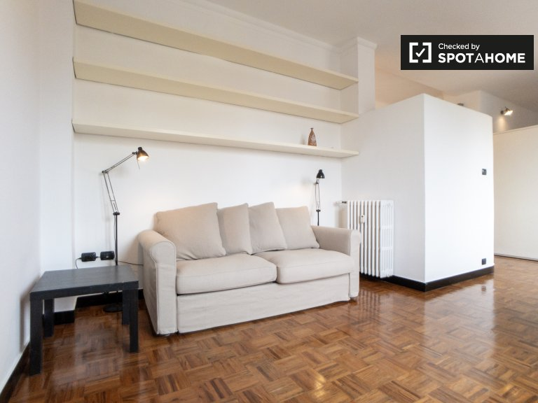 Amplio apartamento de 1 dormitorio en alquiler en Città Studi, Milán