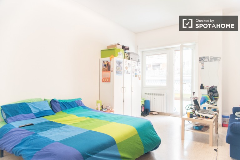 Bedroom 1 with Double Bed and Terrace, Couple Friendly