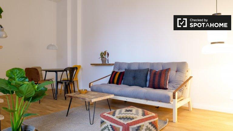 Sonnige Wohnung mit 1 Schlafzimmer in Friedrichshain, Berlin