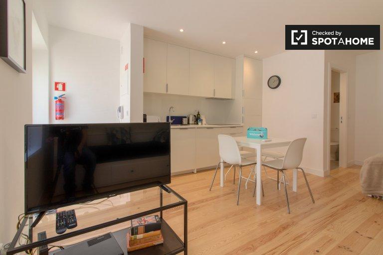 Elegante apartamento de estúdio para alugar em Belém, Lisboa