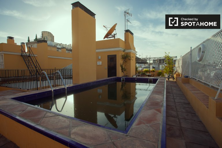 1-bedroom apartment with terrace and swimming pool for rent in La Encarnación