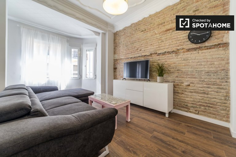 Apartamento de 1 quarto elegante para alugar Ciutat Vella, Valência