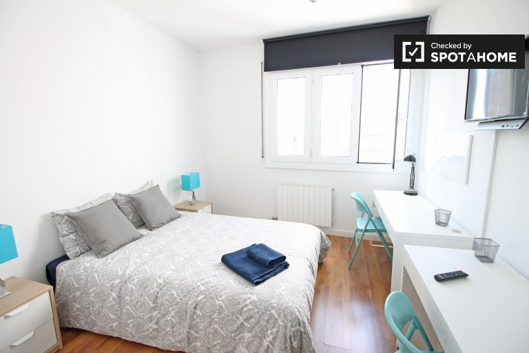 Bedroom 1, couple-friendly with double bed and en-suite bathroom