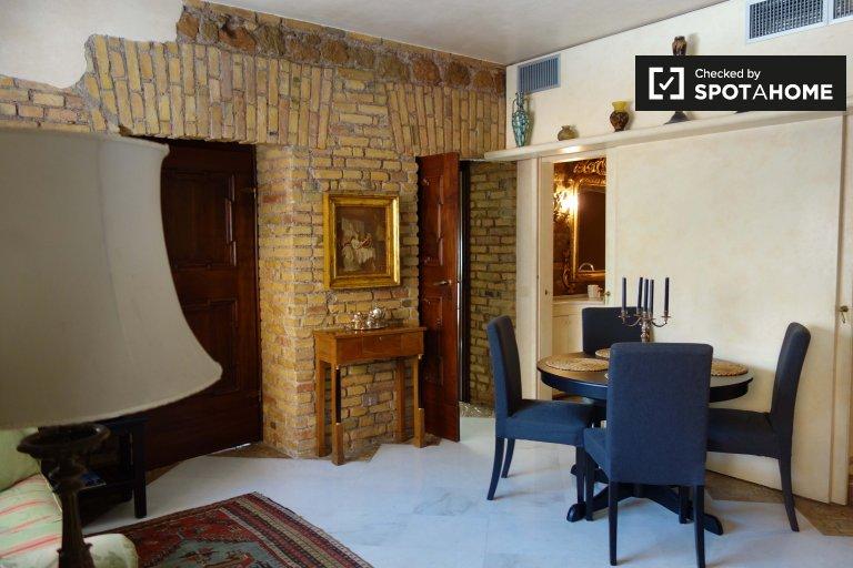Gorgeous 1-bedroom apartment for rent in Trastevere, Rome