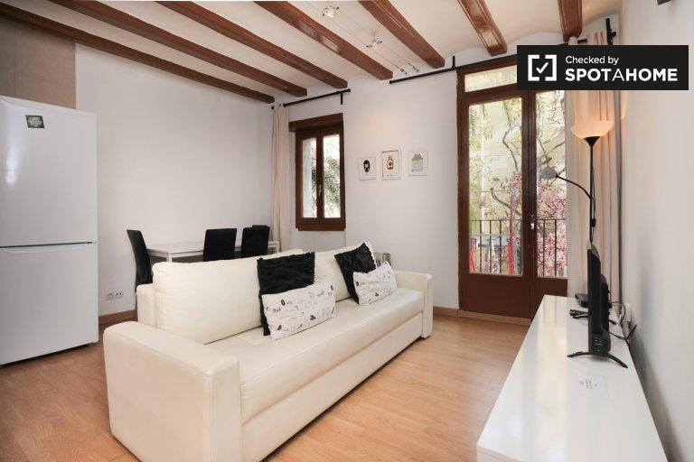 Furnished 1-bedroom apartment in El Born, Barcelona
