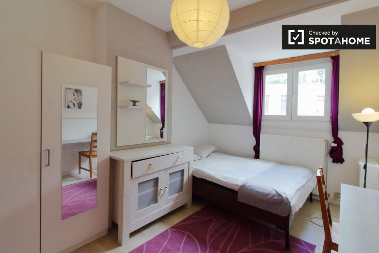 Room for rent in spacious 6-bedroom apartment in Brussels