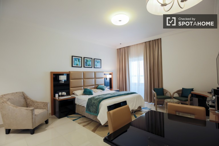 Trendy studio apartment for rent with views of Dubai