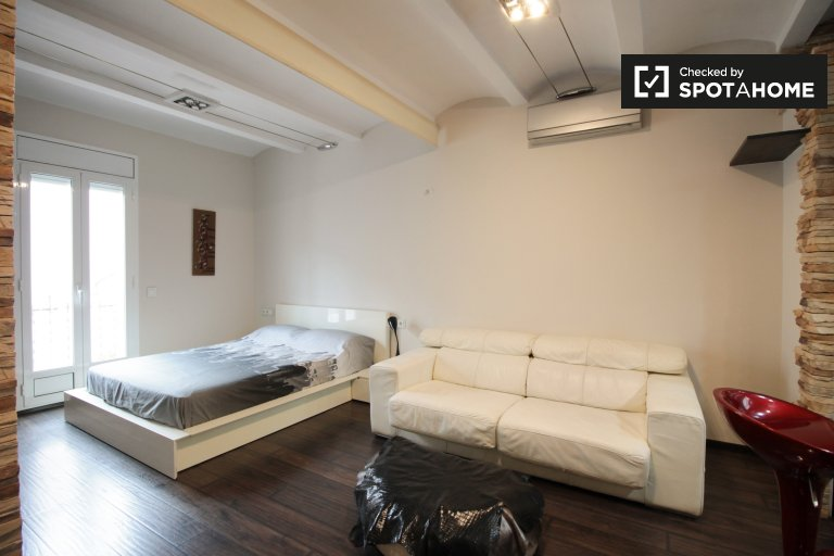 Stylish studio for rent in Poblenou, Barcelona