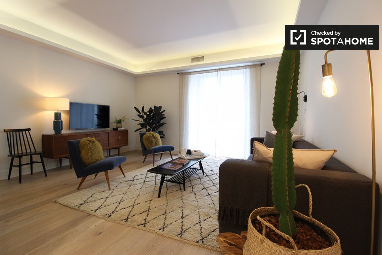 Apartamento de 2 quartos elegante para alugar em Salamanca, Madrid