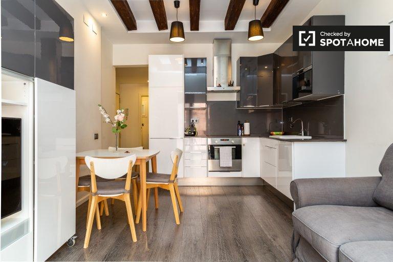 Modern 1-bedroom apartment for rent in El Raval, Barcelona