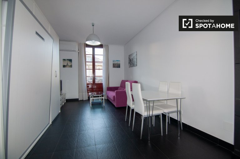 Modern studio apartment for rent in Centro, Madrid