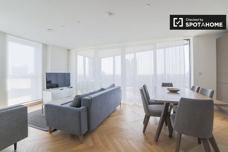 Incrível apartamento com 3 quartos para alugar em Southwark, Londres