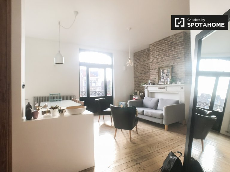 Elegant 1-bedroom apartment for rent in Schaerbeek, Brussels