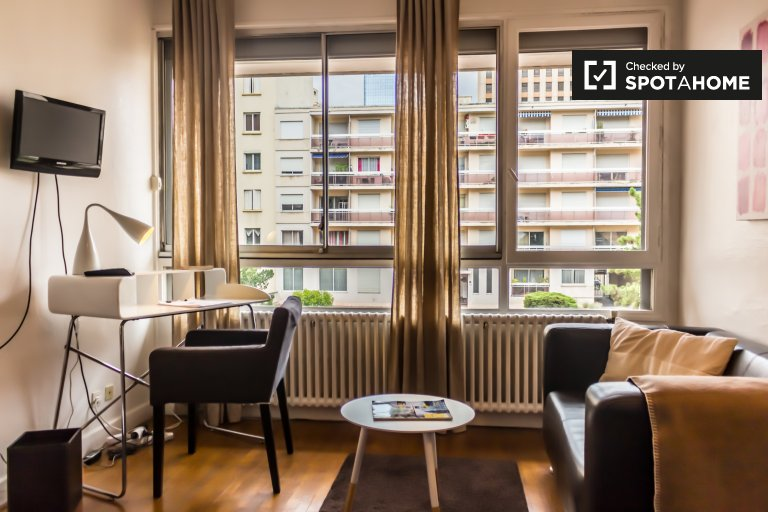 Lovey and bright 1-bedroom apartment for rent in Part-Dieu