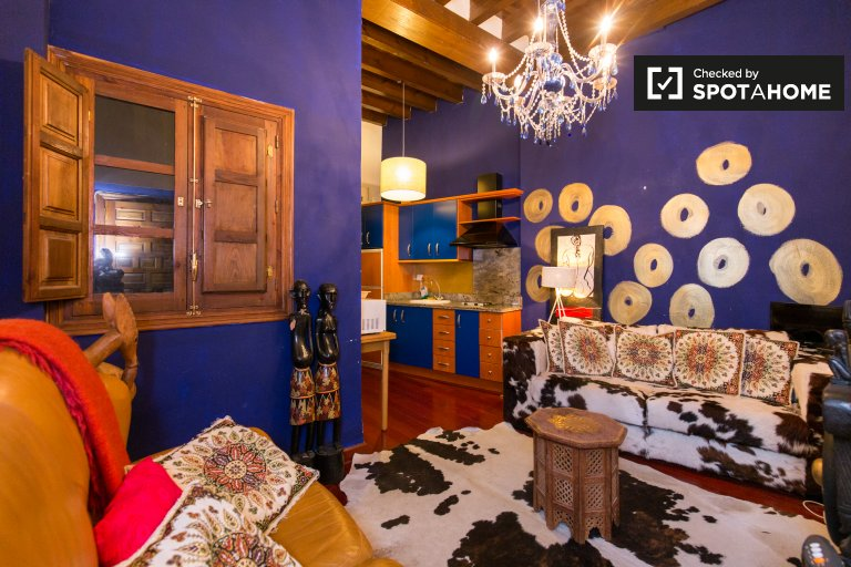 Stylish 2-bedroom apartment for rent in Realejo, Granada