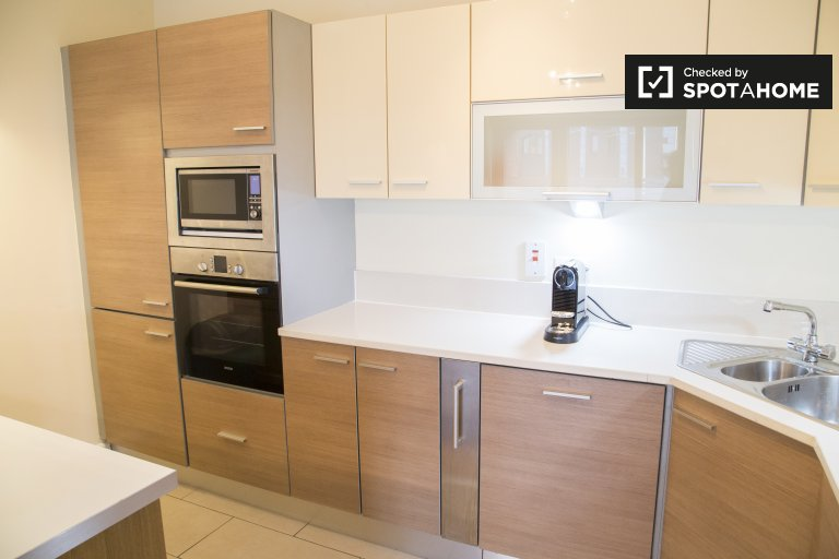 Apartamento moderno de 2 quartos para alugar na área de Trinity College