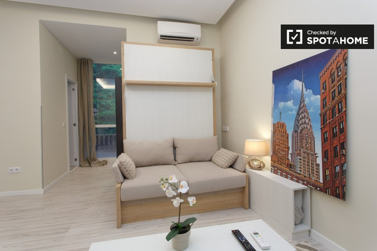 Charming studio apartment with terrace for rent in Chamberí, Madrid