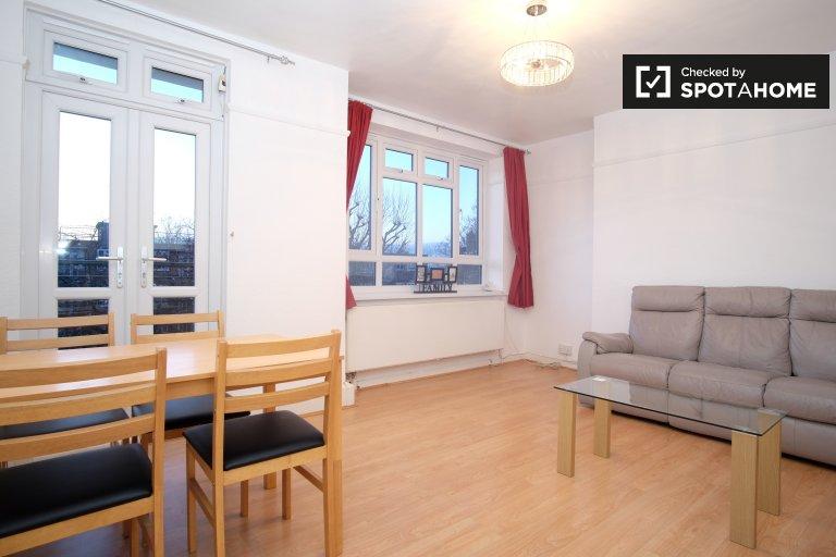 Apartamento espaçoso com 3 quartos para alugar em Battersea, Londres