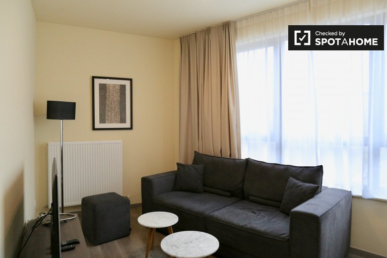Bright 1-bedroom apartment for rent in Evere, Brussels