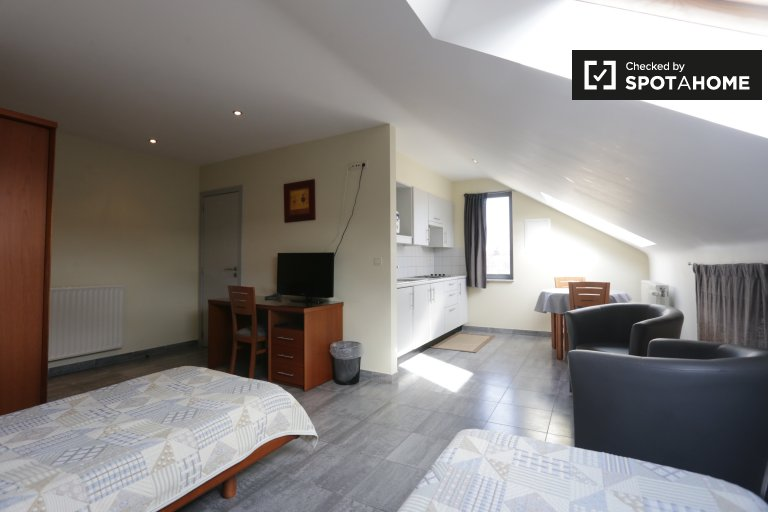 Bright studio apartment for rent in Machelen, Brussels