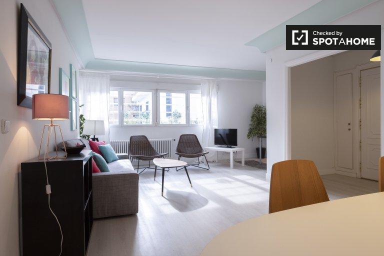 Moderne 3-Zimmer-Wohnung zur Miete in Chamartín, Madrid