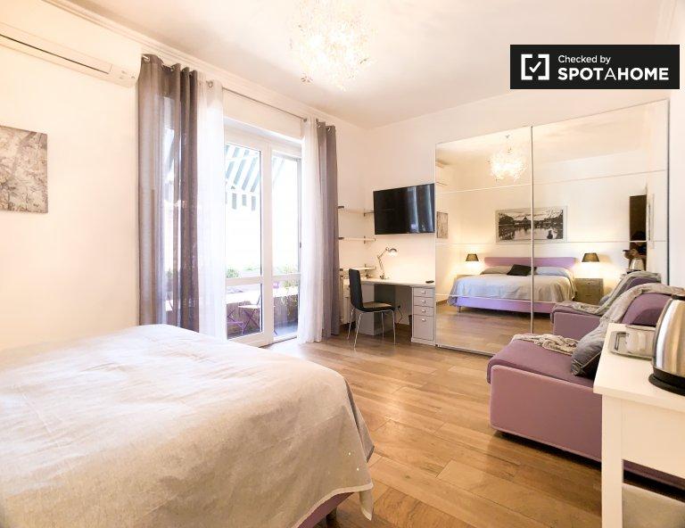 Maravilhoso apartamento com 1 quarto para alugar em Aurelio, Roma