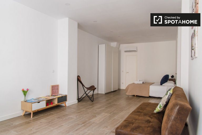 Chic studio apartment for rent in Extramurs, Valencia