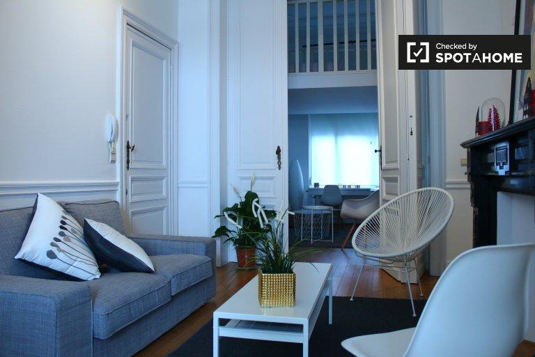 Ixelles, Brüksel'de kiralık muhteşem 3 yatak odalı daire