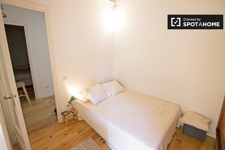 Bedroom 2 with double bed, fully furnished