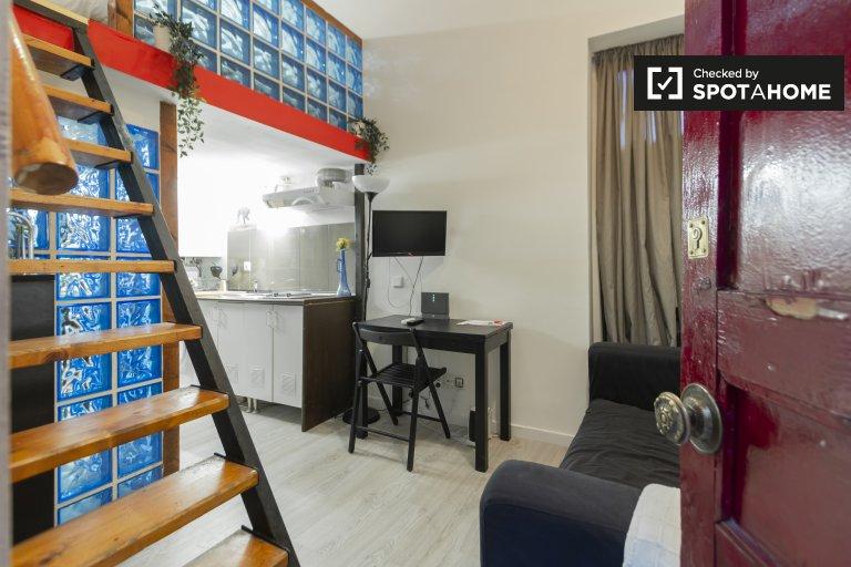 Gemütliches Studio-Apartment zur Miete in Lavapiés, Madrid