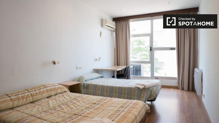 Quarto, em, residência, corredor, em, Ciudad Universitaria, madrid