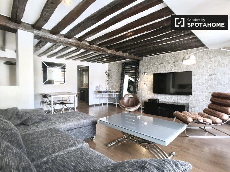 2-pokojowe mieszkanie do wynajęcia w 4 dzielnicy Paryża