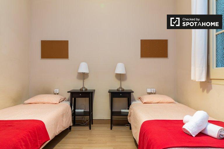 Habitación amueblada en piso compartido en el Eixample, Barcelona