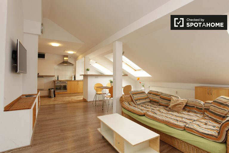 Spacious 2-bedroom loft apartment for rent in Pankow
