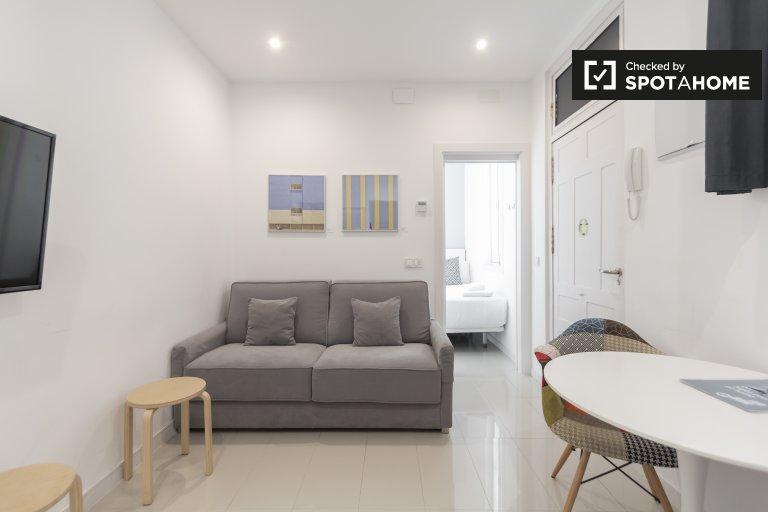 Malasaña, Madrid'de kiralık 1 yatak odalı şirin daire