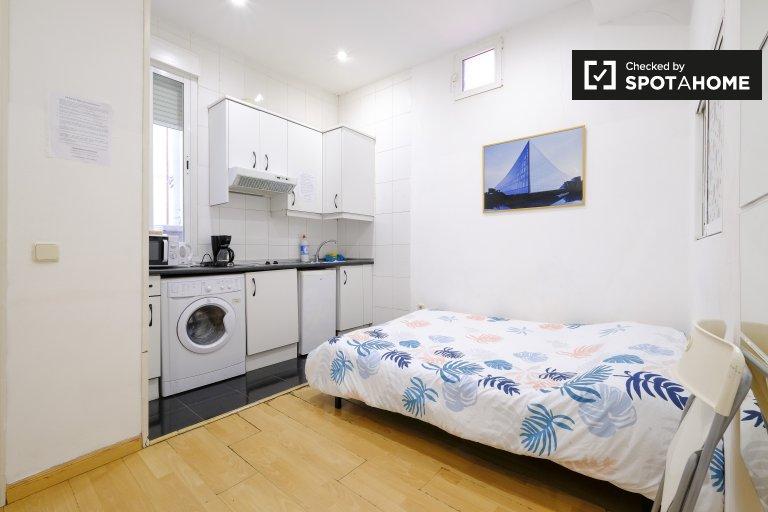 Centro, Madrid'de kiralık şirin 1 odalı daire