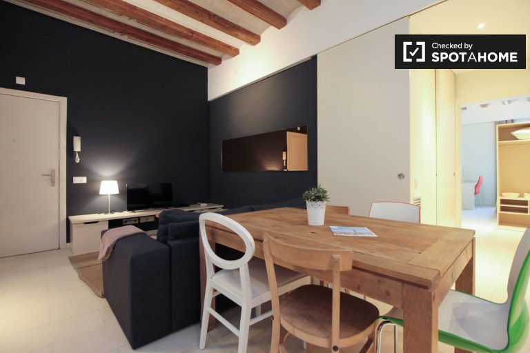 Stylish 3-bedroom apartment for rent, El Born, Barcelona