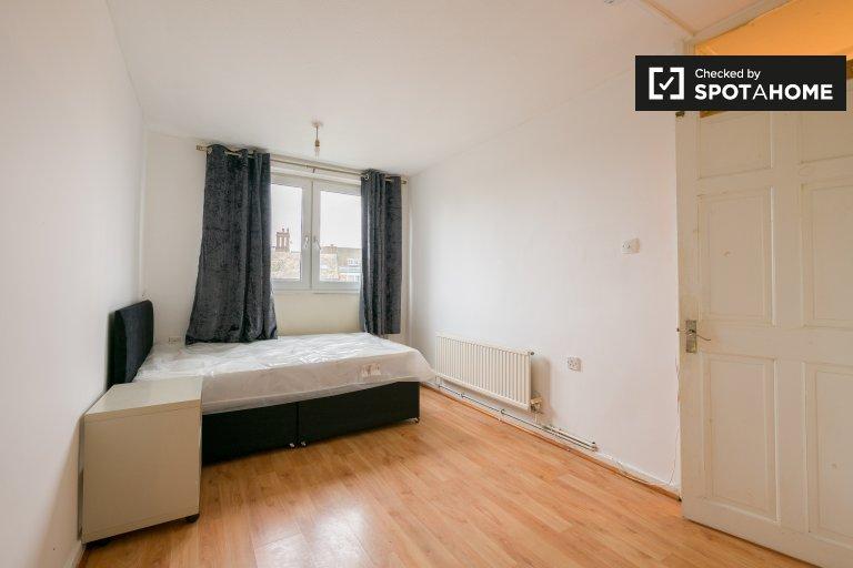 Grande stanza in affitto nel grazioso appartamento con 2 camere da letto, Bow, Londra