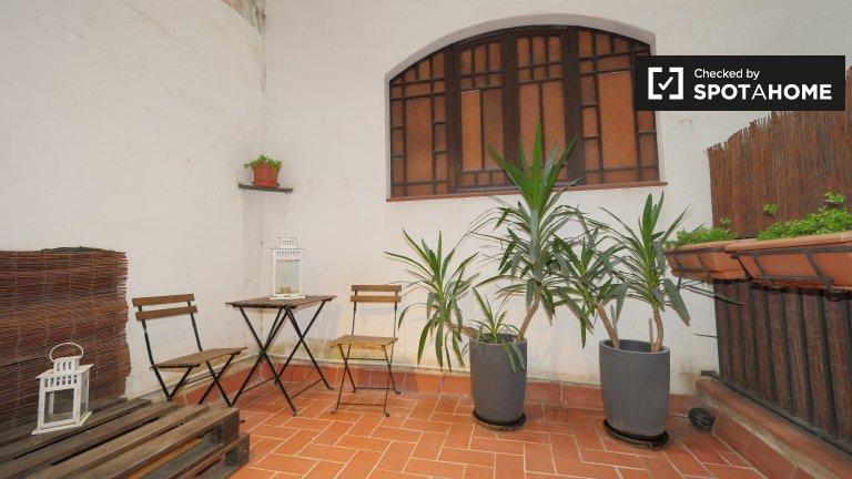 1-pokojowe mieszkanie z klimatyzacją i tarasem do wynajęcia, Barri Gòtic