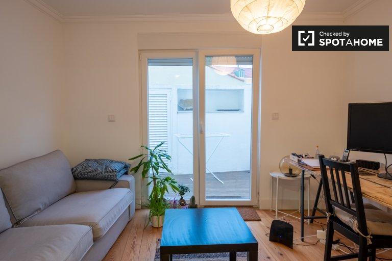 Graça'da kiralık rahat 1 yatak odalı daire