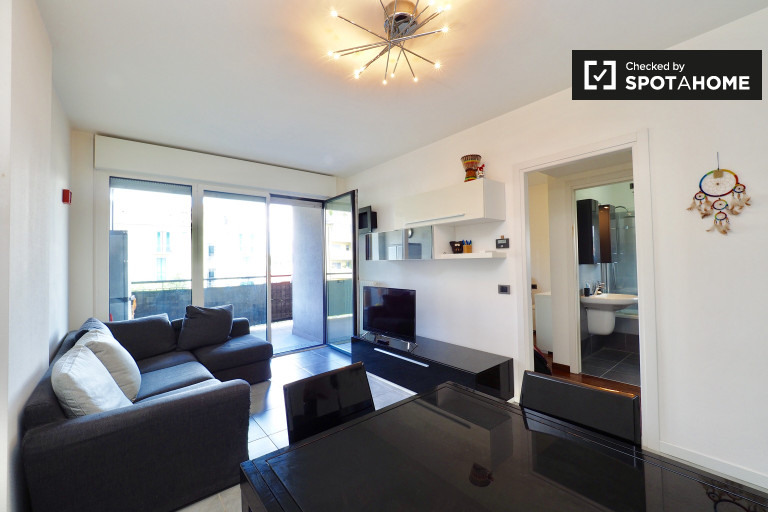 Spacious 1-bedroom apartment with balcony for rent in Tibaldi