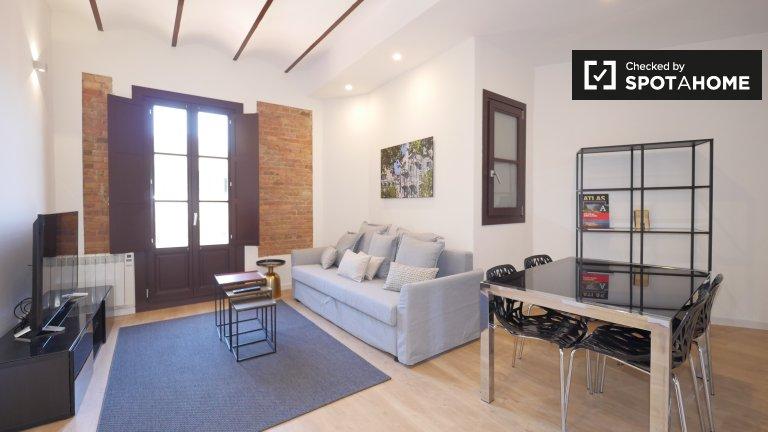 Elegancki 2-pokojowy apartament do wynajęcia w L'Eixample, Barcelona