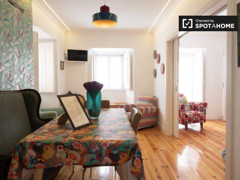 Appartamento ammobiliato con 2 camere da letto in affitto a Estrela, Lisbona