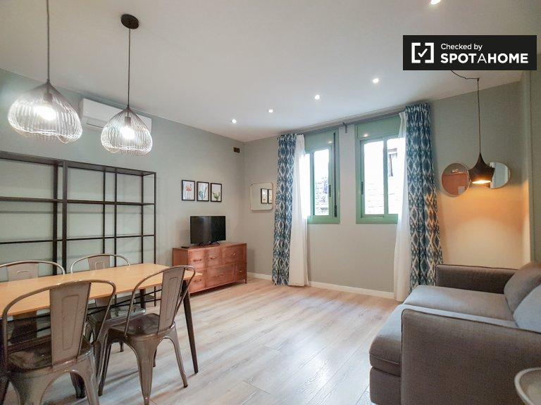 Mod appartamento con 1 camera da letto in affitto a Barri Gòtic, Barcellona
