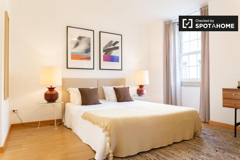 Uroczy apartament z 1 sypialnią do wynajęcia w Chiado w Lizbonie